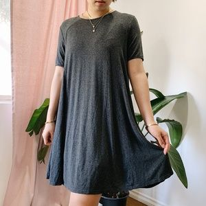 Abercrombie gray dress with zipper in back